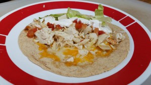 low carb chicken soft taco