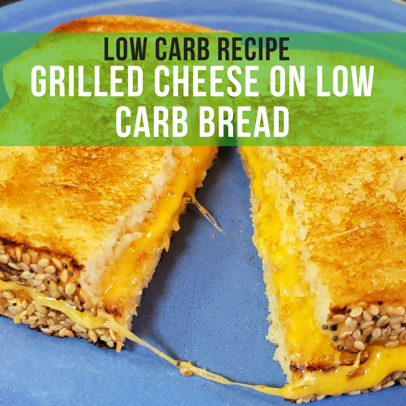Low Carb Keto Grilled Cheese Sandwich Using Low Carb Bread